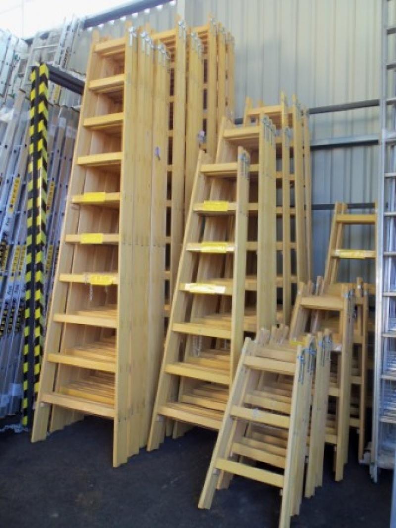 Drevený rebrík dvojdielny ALVE 2807