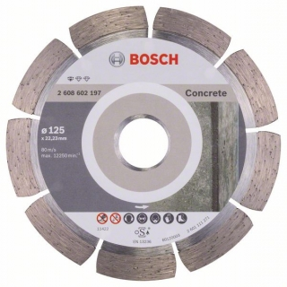 Diamantový rezací kotúč 125 mm, Standard for Concrete BOSCH 2608602197