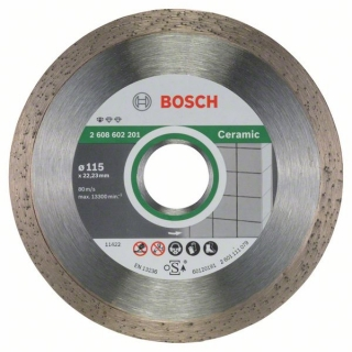 Diamantový rezací kotúč 115 mm, Standard for Ceramic BOSCH 2608602201
