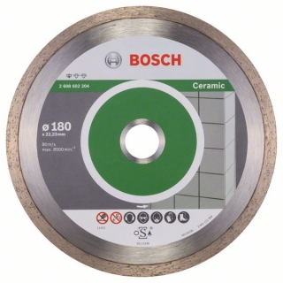 Diamantový rezací kotúč 180 mm, Standard for Ceramic BOSCH 2608602204