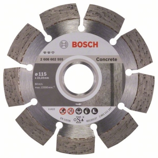 Diamantový rezací kotúč 115 mm, Expert for Concrete BOSCH 2608602555