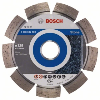 Diamantový rezací kotúč 125 mm, Expert for Stone BOSCH 2608602589