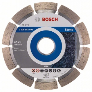 Diamantový rezací kotúč 125 mm, Standard for Stone BOSCH 2608602598