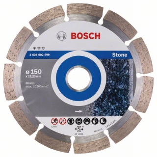 Diamantový rezací kotúč 150 mm, Standard for Stone BOSCH 2608602599
