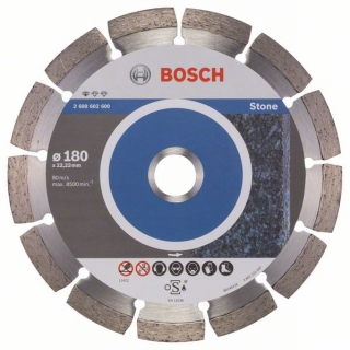 Diamantový rezací kotúč 180 mm, Standard for Stone BOSCH 2608602600