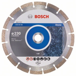 Diamantový rezací kotúč 230 mm, Standard for Stone BOSCH 2608602601