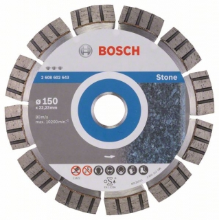 Diamantový rezací kotúč 150 mm, Best for Stone BOSCH 2608602643