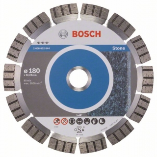 Diamantový rezací kotúč 180 mm, Best for Stone BOSCH 2608602644