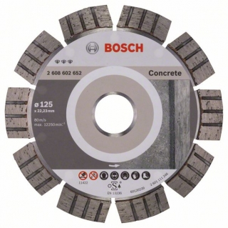 Diamantový rezací kotúč 125 mm, Best for Concrete BOSCH 2608602652