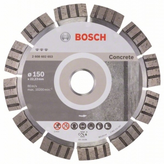 Diamantový rezací kotúč 150 mm, Best for Concrete BOSCH 2608602653