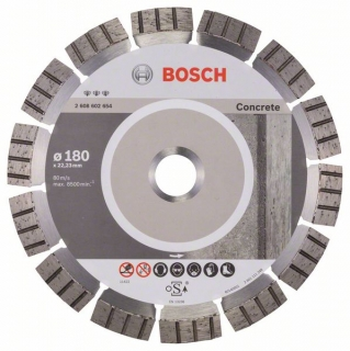 Diamantový rezací kotúč 180 mm, Best for Concrete BOSCH 2608602654