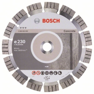 Diamantový rezací kotúč 230 mm, Best for Concrete BOSCH 2608602655