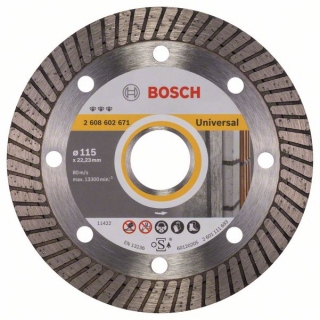 Diamantový rezací kotúč 115 mm, Best for Universal Turbo BOSCH 2608602671