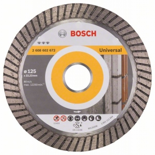Diamantový rezací kotúč 125 mm, Best for Universal Turbo BOSCH 2608602672