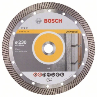 Diamantový rezací kotúč 230 mm, Best for Universal Turbo BOSCH 2608602675
